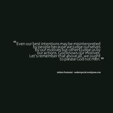Best Intentions Misinterpreted