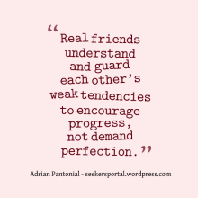 Real Friends for Progress