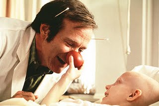 "Robin Williams from one of my favorite movies ""Patch Adams"""