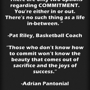 Commitment Sees You Through
