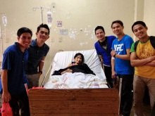 "Some of Nanay's Visitors and Blood Donors. Four Victory Metro East friends from my ""Family of Brothers"""