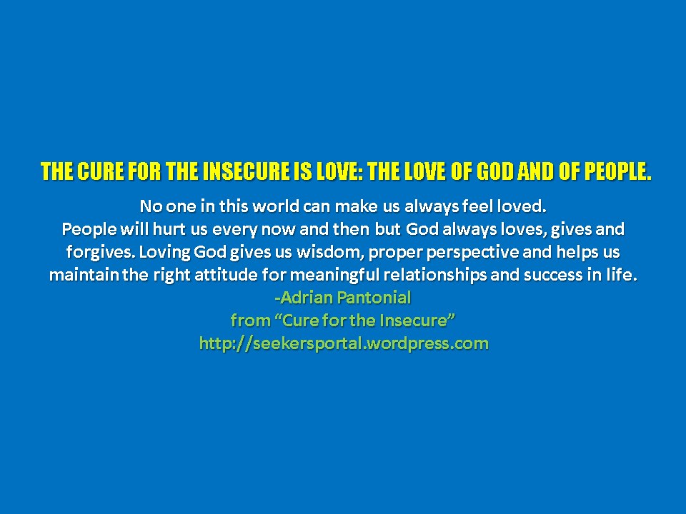 Cure insecurity