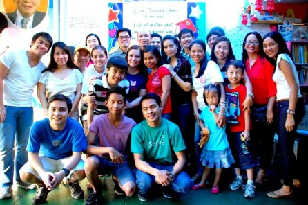 Some of Jill Zarate's Family and Friends who joined this Charity Outreach.