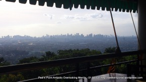 View from Padi's Point Antipolo Overlooking Manila