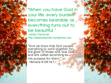 From Burdens to Blessings