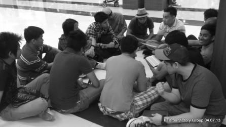 Ryan Norman Lim facilitating a joint Victory Group