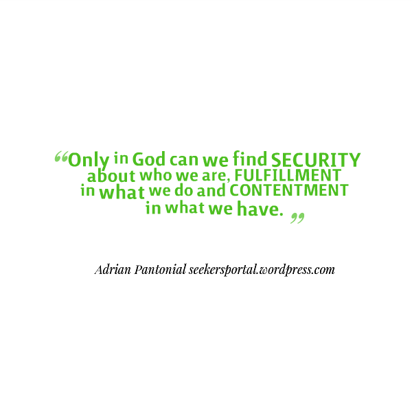 Security Fulfilment Contentment
