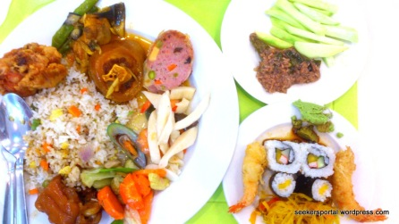My buffet lunch at Royal Concourse