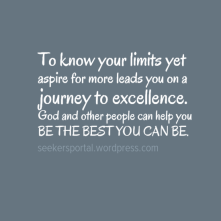 Be The Best You Can Be