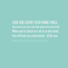 Love and Serve Your Family