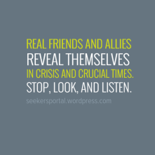 Real friends and Allies