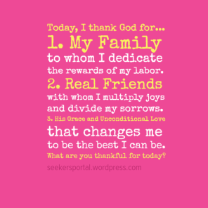 Today I thank God for