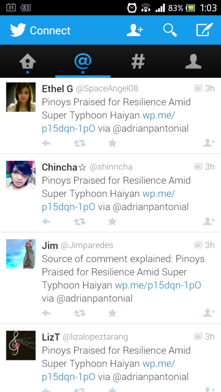Singer-Musician-Book Author, Jim Paredes retweeted my blog
