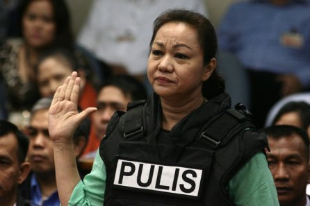 Napoles at Senate Hearing - Photo from Yahoo Southeast Asia Newsroom/NPPA Images