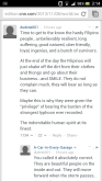 My phone's screenshot of dudesk001's comment at CNN's Super Typhoon Update