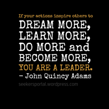 You're A Leader If