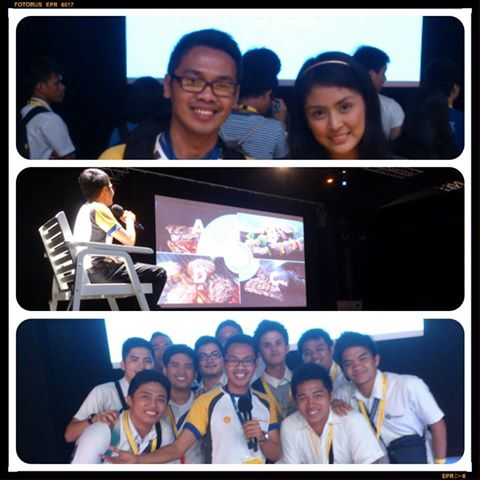 02.06.2014 - Shell Eco-Marathon Day 1-Had fun being ala-Ryan Agoncillo as a Game Show Host @ Stress Nexus Game. Shown here with my co-host, Nicole Borgonia, and Student Participants from Adamson University. — feeling awesome!