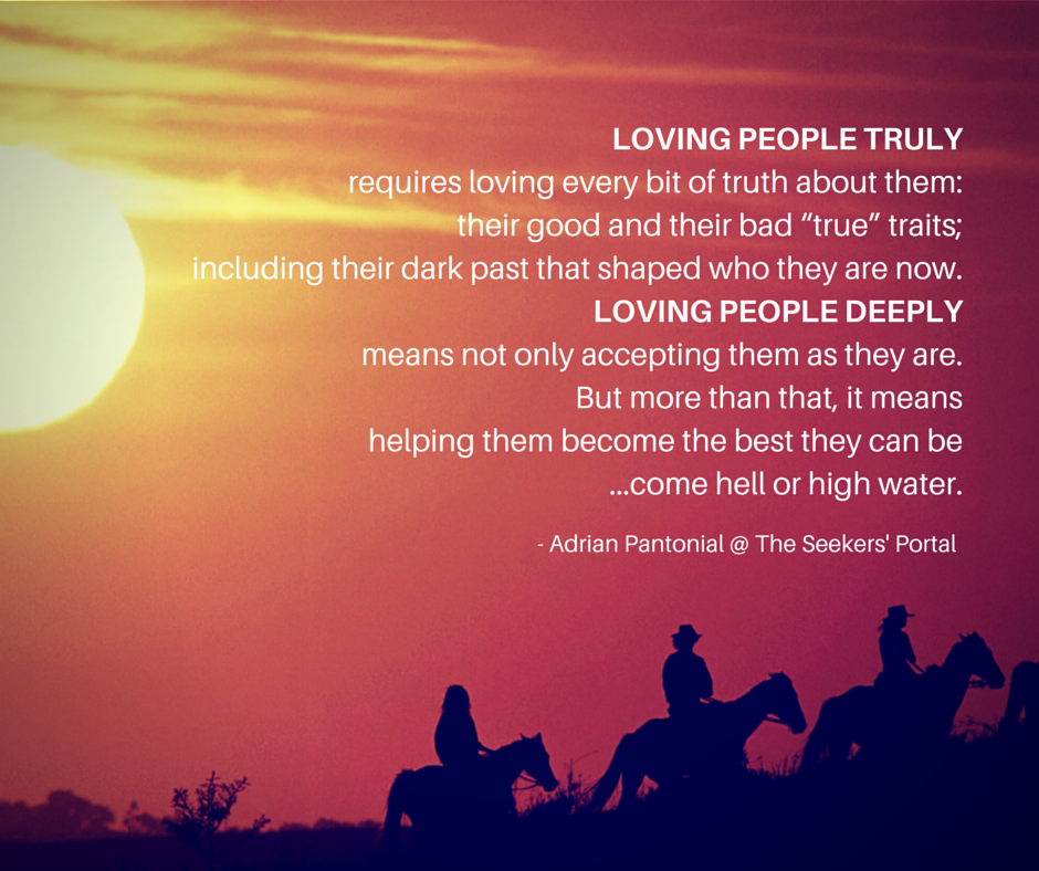 Quotes About Loving Someone Deeply: Loving People Truly And Deeply