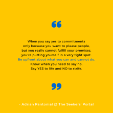Adrian Pantonial - Know When To Say No