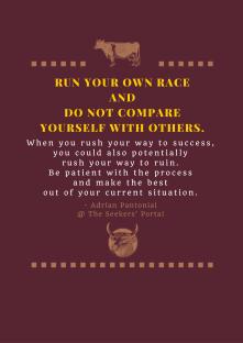 Adrian Pantonial - Run Your Own Race