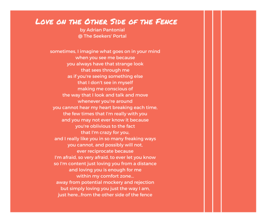 Love on the Other Side of the Fence - Adrian Pantonial