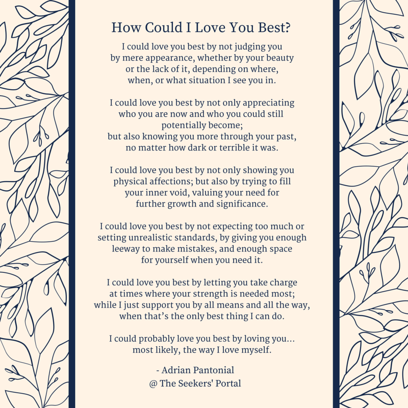 How Could I Love You Best - Adrian Pantonial