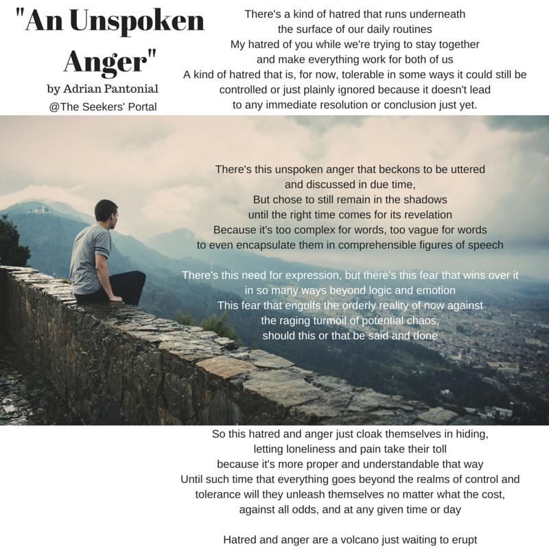 An Unspoken Anger - Adrian Pantonial