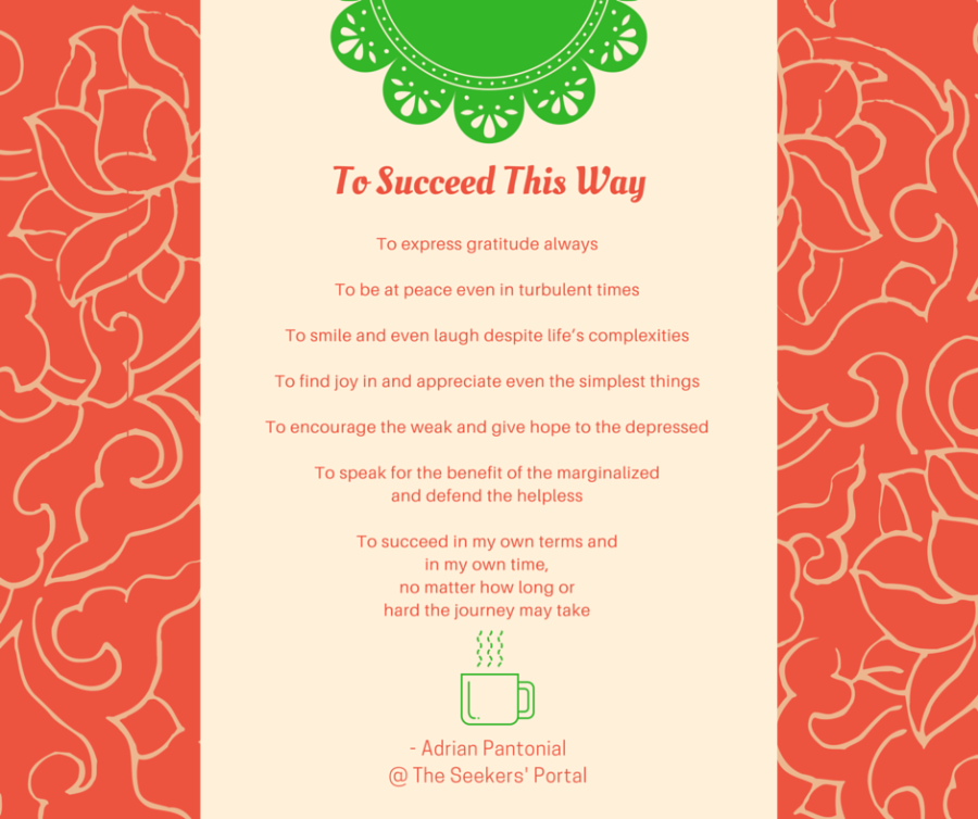 To Succeed This Way - Adrian Pantonial